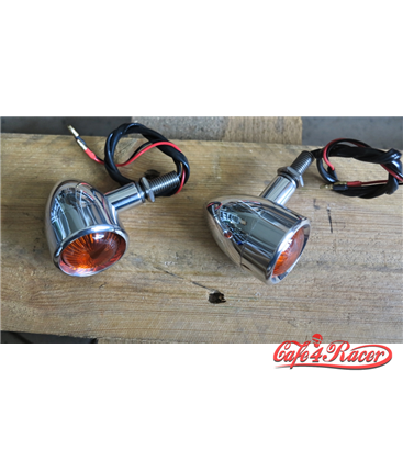 Custom Billet Indicator Turn Signals -  2ks - leštené