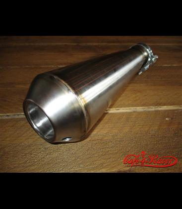 Megaphone Silencer Stainless Steel  Topmount Handmade