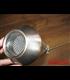 Megaphone tlmič výfuku nerezová koncovka bočný držiak