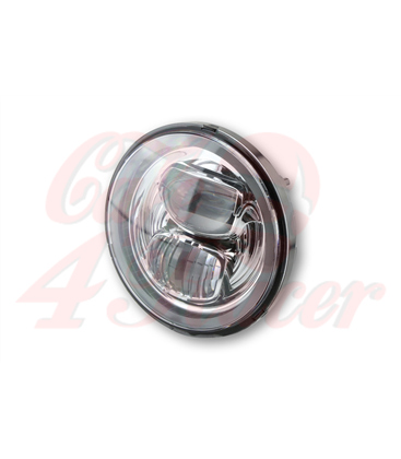 HIGHSIDER LED main headlight insert TYP 7, chrome reflector