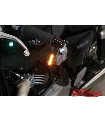 HIGHSIDER handle bar end mirror MONTANA with LED indicator