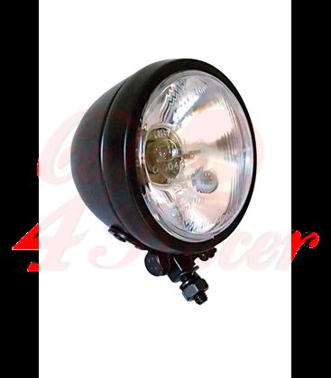 SHIN YO 4 1/2 inch high beam headlight, glossy black, chrome
