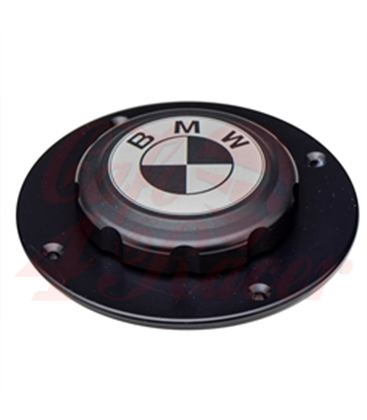 BMW K75/100/1100 Fuel Tank Gas Cap Black with Black Logo