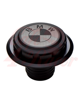 BMW K75/100/1100 Fuel Tank Gas Cap Black with White Logo