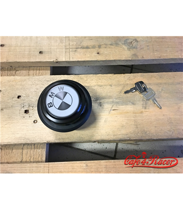 BMW R45 - R100  series  Fuel Tank Gas Cap Black with White Logo