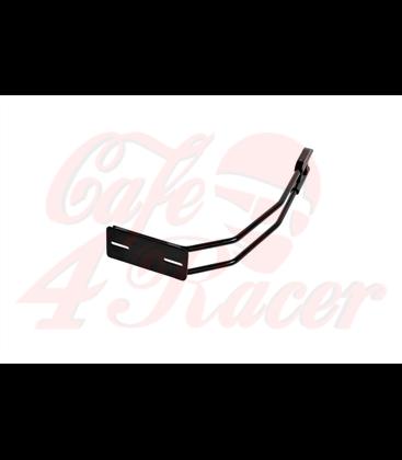 Highway Hawk Rear tire license plate holder  chrome/black