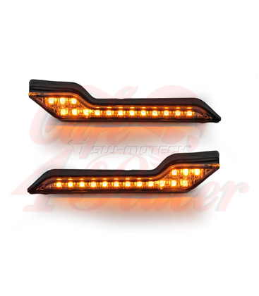 SW-MOTECH Barkbusters LED indicator lights, amber, set of 2