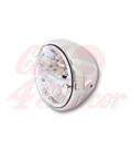 HIGHSIDER 7 inch LED headlight RENO TYPE 4, chrome