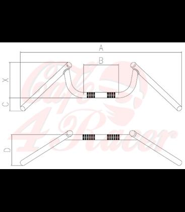 Tommaselli čierne  CONDOR  - M-bar, 7/8 inch, 64,6 cm