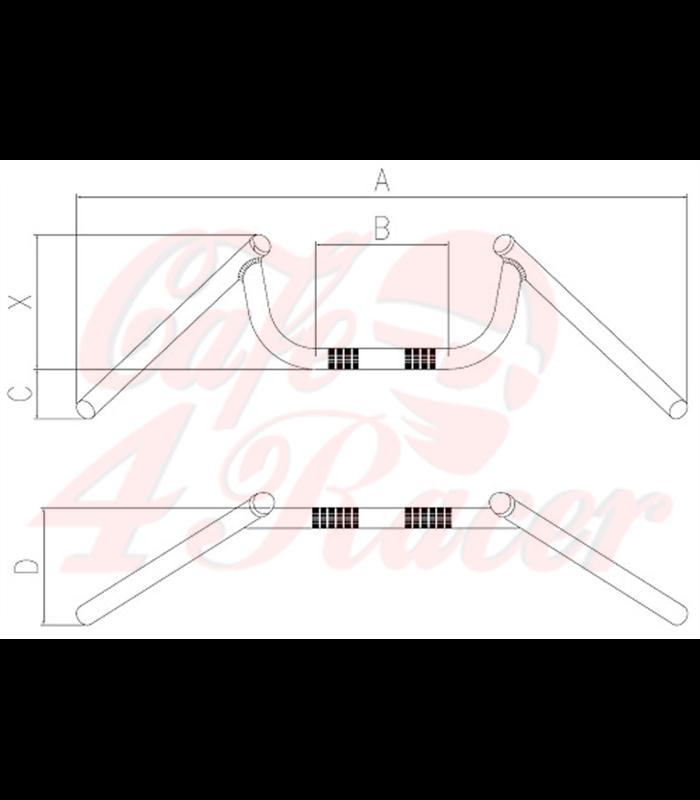 tommaselli chrome condor m bar 7 8 inch 74 cm. Black Bedroom Furniture Sets. Home Design Ideas