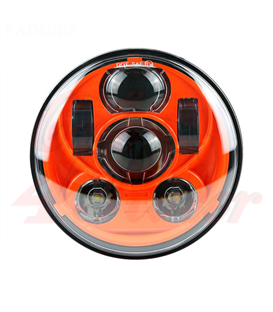 "5-3/4 Harley Headlight 5.75"" Led Headlamps insert orange"