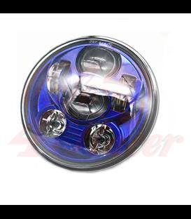 """5-3/4 5.75""""  Harley Hlavné LED svetlo vložka modrá"""