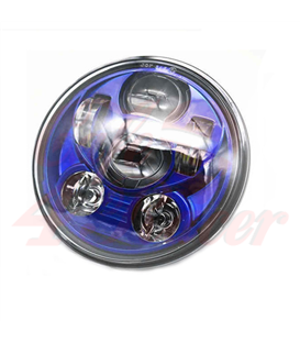 "5-3/4 Harley Headlight 5.75"" Led Headlamps insert blue"