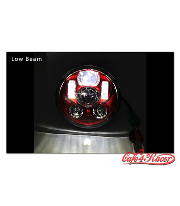 "5-3/4 Harley Headlight 5.75"" Led Headlamps insert  red"