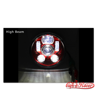 "5-3/4 Harley Headlight 5.75"" Led Headlamps insert white"