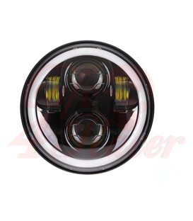"5-3/4 Harley Headlight 5.75"" Led Headlamps insert black"