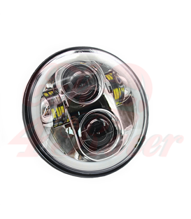 "5-3/4 Harley Headlight 5.75"" Led Headlamps insert chrome"