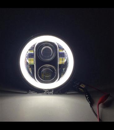 """5-3/4 5.75""""  Harley Hlavné LED svetlo vložka chrómová"""