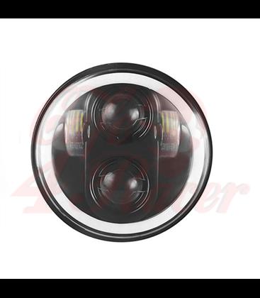 "5-3/4 Harley Headlight 5.75"" Led Headlamps insert black RGB"