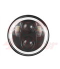 "5-3/4 Harley Headlight 5.75"" Led Headlamps insert black RGB ring"