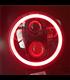 """5-3/4 5.75""""  Harley Hlavné LED svetlo vložka čierna RGB krúžok"""