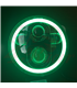 "5-3/4 Harley Headlight 5.75"" Led Headlamps insert black RGB ring"
