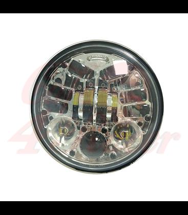 """5-3/4 5.75""""  Harley Hlavné LED svetlo vložka chrómová LED smerovky"""