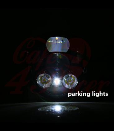 """5-3/4 5.75""""  Harley Hlavné LED svetlo vložka chrómová LED parkovačka"""