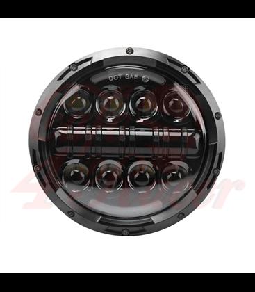 """5-3/4 5.75""""  Harley Hlavné LED svetlo vložka čierna"""