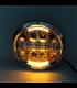 """7"""" / 17,8cm Harley Hlavné LED svetlo  vložka chróm"""