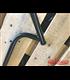Tommaselli Black Steel  CONDOR  - M-bar, 7/8 inch, 64,6 cm