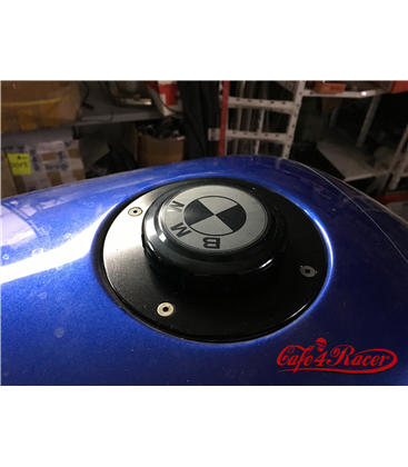 BMW K75/100/1100 Fuel Tank Gas Cap Black with Black Logo