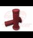 TPR Soft grips for 1 inch handlebars dark red