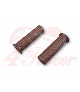 TPR Soft grips for 1 inch handlebars dark brown