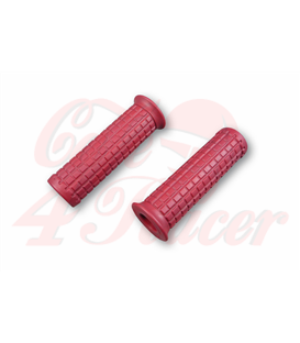 TPR Soft grips for 1 inch handlebars dark red