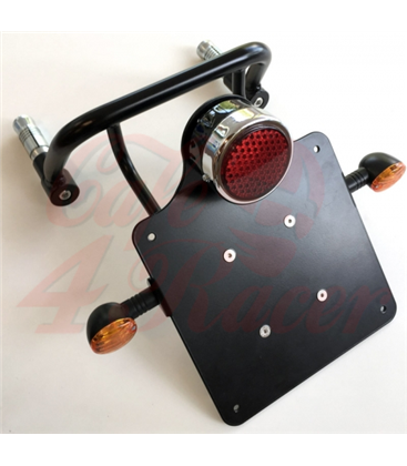 BMW K100/75 Frame plate holder and light - scrambler