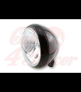SHIN YO 7-palcový hlavný svetlomet YUMA, lesklý čierny