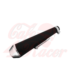 Highway Hawk muffler Megaton black/chrome