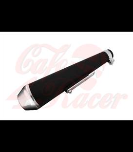 Highway Hawk muffler Megaton black/chrome