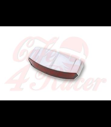 SHIN YO LED zadné svetlo LIGHT GUIDE, strieborná matná, červené šošovky