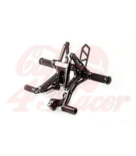 LSL Rearset Sportster - 03, black