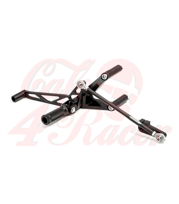 LSL Rearset Sportster 04- without ABS, black