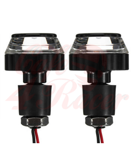 2PCS Motorcycle Handlebar LED Turn Signal Grip Bar End Lights