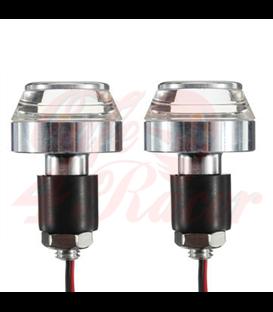 LED smerovky do rukovätí 2ks strieborné CNC