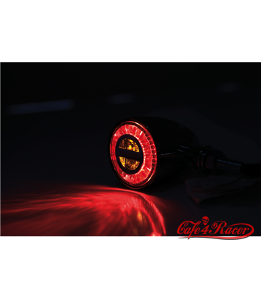 HIGHSIDER ROCKET CLASSIC LED zadné svetlo-smerovka čierne