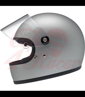 Biltwell Gringo S Helmet Flat Silver