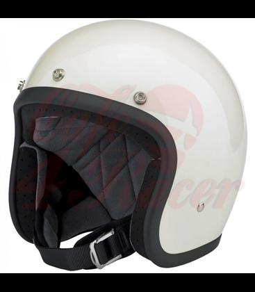 Biltwell Bonanza Helmet Open Face Gloss Vintage White
