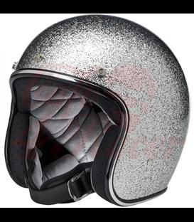 Biltwell Bonanza helma brite silver MF