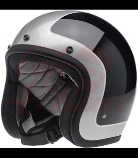 Biltwell Bonanza Helmet Open Face Tracker Black Silver