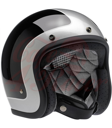 Biltwell Bonanza helma otvorená Tracker čierno strieborná